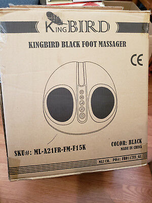 Kingbird Shiatsu Foot Massager Machine with Heat deep Kneading Air Compression .