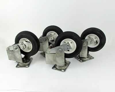 """Lot of (4) Albion AT720002 Swivel Caster w/ Inflatable Rubber Tire- 8"""" x 2.5"""""""