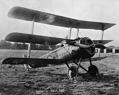 New 11x14 Word War I Photo: Sopwith Triplane of the Royal Canadian Air Force