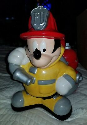 Fireman Firefighter Mickey Mouse Disney Retired Cookie jar