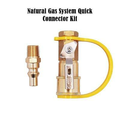 """1/4"""" Quick Connect Kit & Shutoff Valve Connector For Propane/Natural Gas System"""