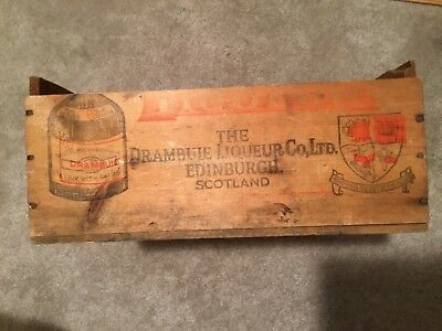 Vintage Wooden Crate Drambuie Scotch Liqueur Edinburgh, Scotland, NY Importer