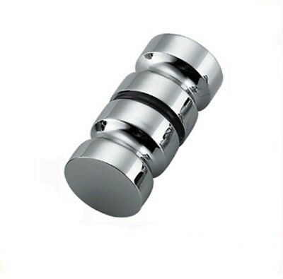 stainless steel Shower Glass Door Handle Knob Groove Chrome Plated Home Bathroom