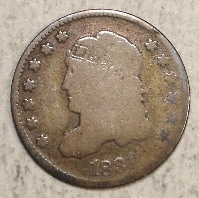 1831 Capped Bust Half Dime, Basic Circulated Type Example   0919-10
