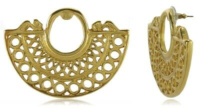 ACROSS THE PUDDLE 24k GP Pre-Columbian Embossed Nose Ring Earrings