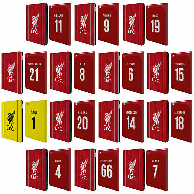 LIVERPOOL FC LFC 2018/19 PLAYERS HOME KIT 1 PU LEATHER BOOK CASE FOR APPLE iPAD