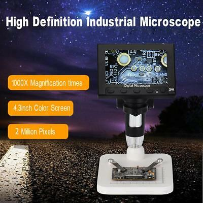 4,3'' LCD 1000X 720P Microscopio composto di Desktop 8LED 2MP Fotocamera Medico