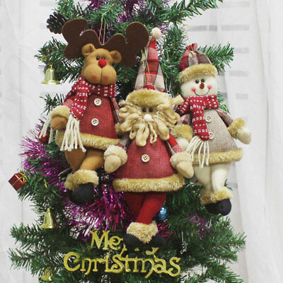 New Year Christmas Decorations Home Santa Snowman Pendant Merry Xmas Toys