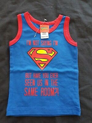 Boys new SUPERMAN singlet size 00