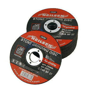 """Pack of 5 Stone Grinding Masonry Discs Blades 115mm 4.5 """""""