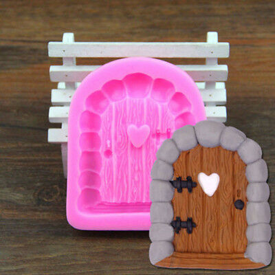 3D House Door  Silicone Fondant Mould Cake Decoration Chocolate Cutter Mold 8C