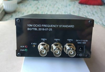 2018 10MHz OCXO Frequency Standard Reference 2-CH Sine wave 1-CH Square wave