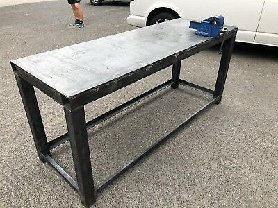 METAL WORK BENCH/TABLE (Bespoke)   Steel, Workshop, Engineer, Fabricator,  Weld