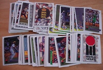 1993-94 World Series Australian Cricket Cards 110 Card Mint Base Set - Futera