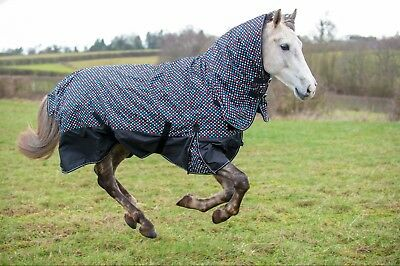 Ltd Edition DOTTY  Medium Weight Turnout Rug 200g with Combo Neck Cover ; SALE