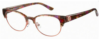 60606772d1 New Authentic Juicy Couture 172 0NXA Pink Burgundy Eyeglasses 50-18-135 W