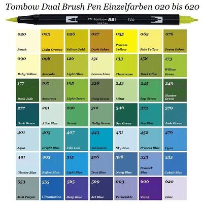 Tombow Dual Brush Pen ABT-Stifte Einzelfarben 020 -620