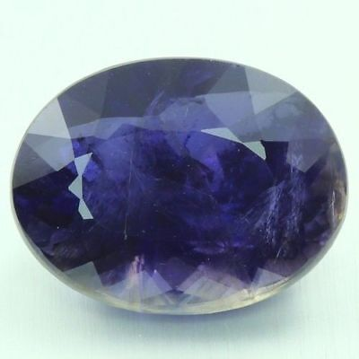 12.57 Ct Ultra Rare Best Grade Unheated Natural Huge Royal Blue Iolite Nr !!!
