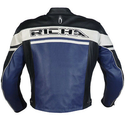 Richa Route 56 Motorcycle Motorbike Sports Racing Leather Jacket NEW - Blue