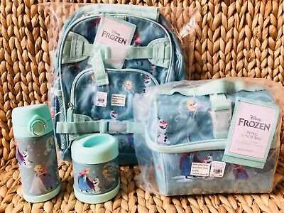 Pottery Barn Kids Disney Frozen Small Backpack Lunch Box Water bottle Thermos