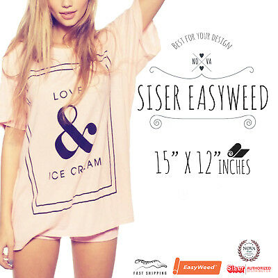 "Siser Easyweed Iron-on Heat Transfer Vinyl 12"" x 15"" Free Shipping"