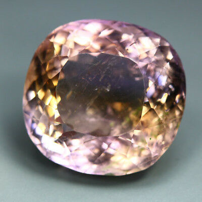36.5 Cts_Unique Stunning Rare Big Jumbo_100 % Natural Bi-Color Ametrine_Brazil