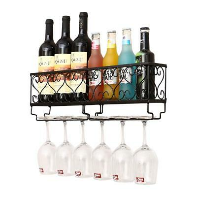 Wine Rack Metal Glass Holders Goblets Bottle Red Stands Unique Kitchen Storages