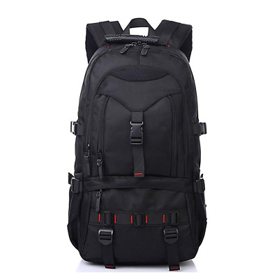 17-Inch Water Resistant Laptop Backpack for Travel Work School College Bag Black