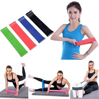 4Pcs Resistance Band Loop Exercise Yoga Bands Workout Fitness Training Cross Fit