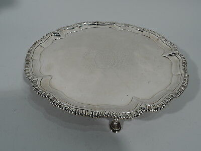 Georgian Salver - Antique Early Tray - Irish Sterling Silver - Dublin 1717