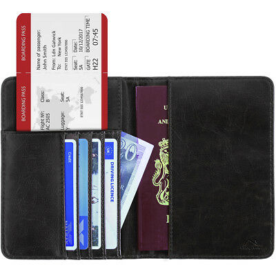 RFID Passport Cover Wallet Cards IDs Holder Pouch Case PU Leather Universal