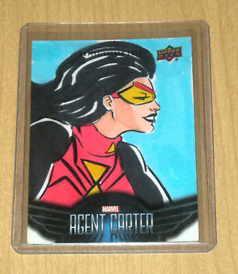 2018 Upper Deck Marvel Agent Carter sketch card 1/1 Elvis Moura