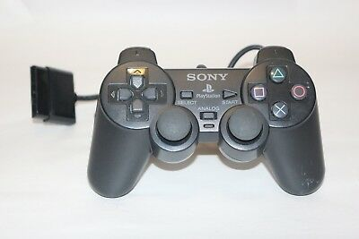 PS2 Controller Sony Genuine Official OEM SCPH-10010 Black Analog Playstation 2