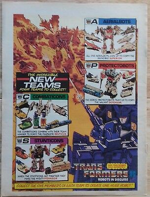 UK Transformers Comic Advertising Poster / Special Teams