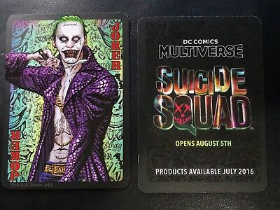 SDCC Exclusive DC Comic Multiverse Suicide Squad Movie Joker Promo Playing Card