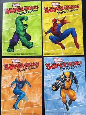SDCC EXCLUSIVE Marvel Super Heroes Science Exhibition Promo 4 Trading Card Set