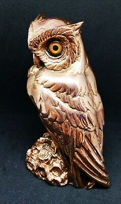 Greek Statue Owl Symbol Athena Goddness Bronze Finish