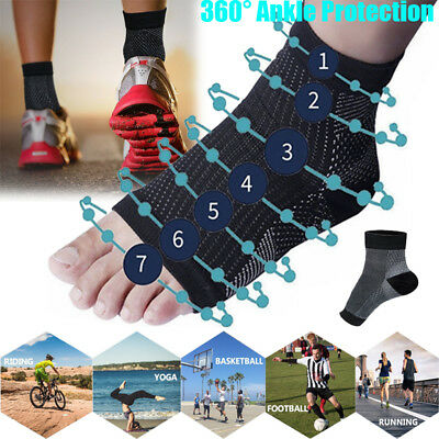 1 Pair Compression Wear Pro Relieve Plantar Fasciitis Heel Pain Sleeve Socks