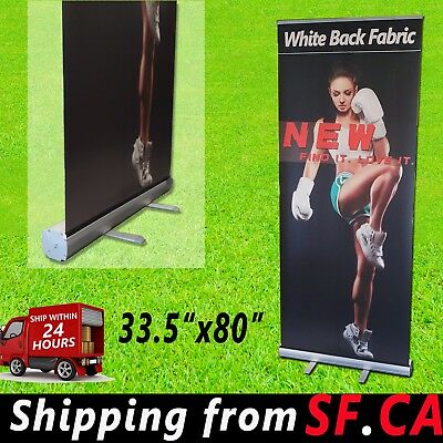 33.5 x 80,Standard Aluminum Retractable Roll Up Banner Stand Trade show Display