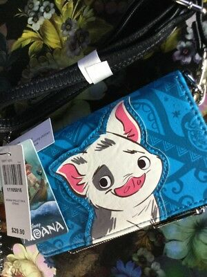 New With Tags! DISNEY'S  Wallet On A String! Features Hei Hei And Pua Pig!