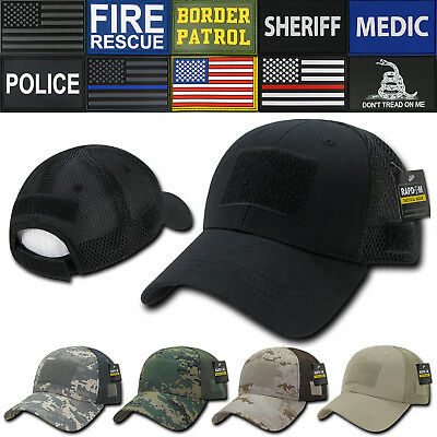 2baf188d117df RAPDOM Low Crown Mesh Constructed Military Tactical Hats Caps With Front  Patch