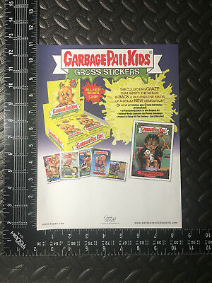 Garbage Pail Kids Ans1 2003 All-New Series 1 Promotional Dealer Tab Sell Sheet