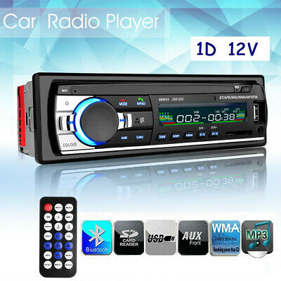 Car Stereo Radio Bluetooth MP3 Player FM USB/SD/AUX iPhone Android Head Unit