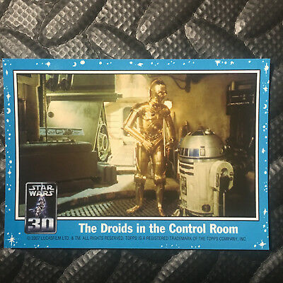 """Star Wars 2007 30Th Anniversary Magnet Card """"the Droids In The Control Room"""""""