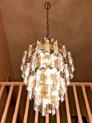Chandeliers Vintage x 1 Lucite & Glass pickup only Black Rock VIC 3193