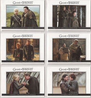 Game of Thrones Season 7 Trading Cards - Relationships Special-Set (DL41 - DL50)