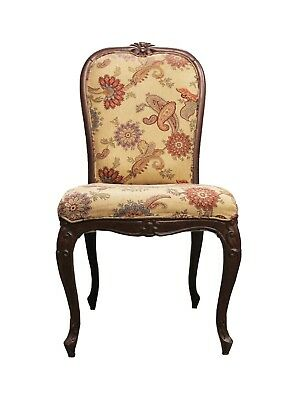 Chair Wood Furniture Vintage Handmade Design Fine Carved Collectible India US432