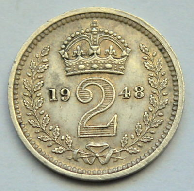 United Kingdom - 2 Pence 1948 (Maundy) George VI - Silver - EF(XF)