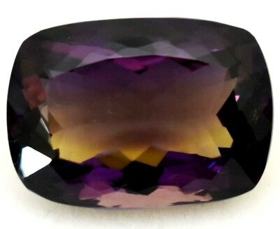 VVS 33.55 Ct 100% Natural Yellow & Purple Ametrine AAAAA+++ Brillant Cut Gem