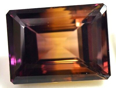 AGSL Certified 58.70 Ct Ravishing 100% Natural Bi-Color Bolivia Ametrine Gem